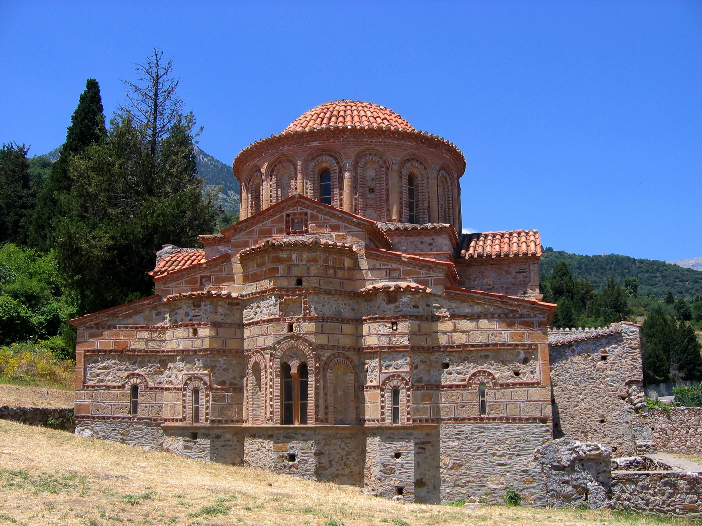 Eglise byzantine à Mystra