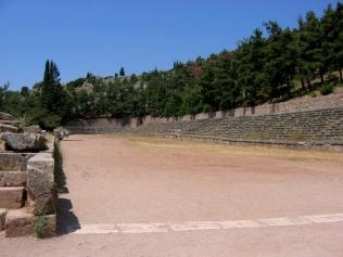 Delphes, le stade